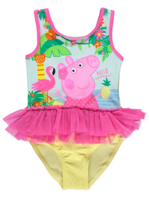 Peppa Pig Tutu Swimsuit  sc 1 st  George - Asda & Peppa Pig Tutu Swimsuit | Kids | George