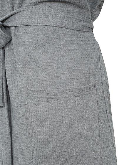 Light Grey Waffle Dressing Gown | Men | George