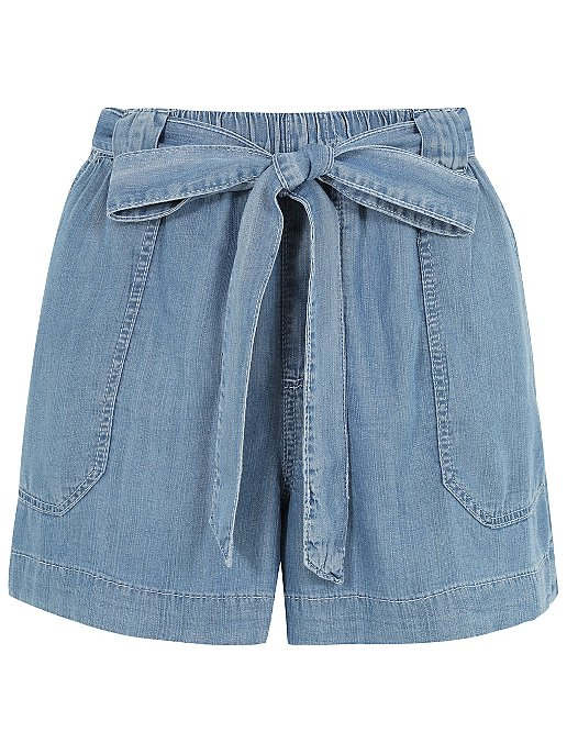 buy famous brand finest selection Tencel® Tie Waist Denim Shorts | Women | George