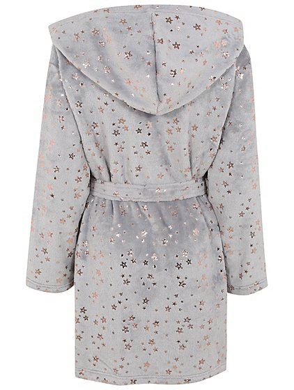Metallic Star Hooded Dressing Gown | Women | George