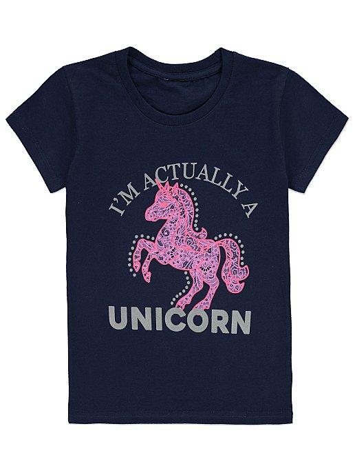 8b3ddc433 Unicorn Metallic T-shirt | Kids | George