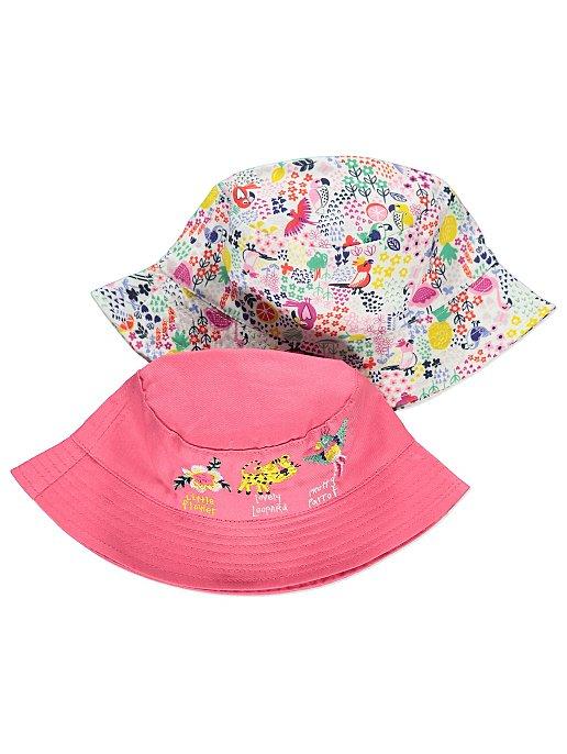 f97b17c6754 Pink Tropical Print Bucket Hats 2 Pack. Reset
