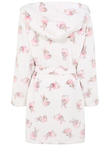 Rabbit Print Hooded Dressing Gown | Women | George