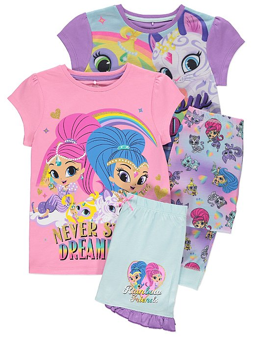 cf6bae8e33 2 Pack Shimmer And Shine Pyjama Set. Reset