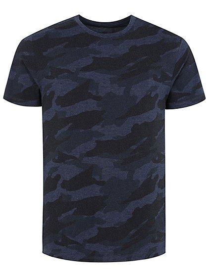 Camo print t shirt men george for Camo print t shirt