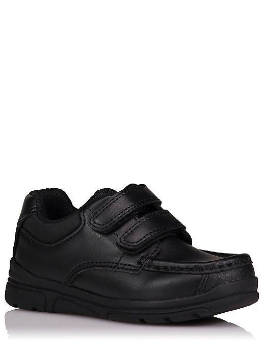 e81b8631a6 Boys Black 2-Strap School Shoes | Kids | George