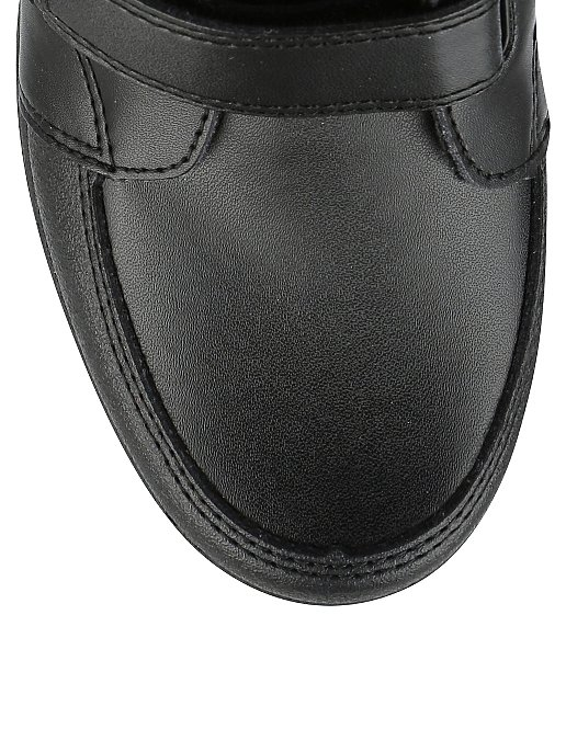 6dc308939 Boys Black School Rugged Scuff Resistant 2 Strap Shoes   Kids   George