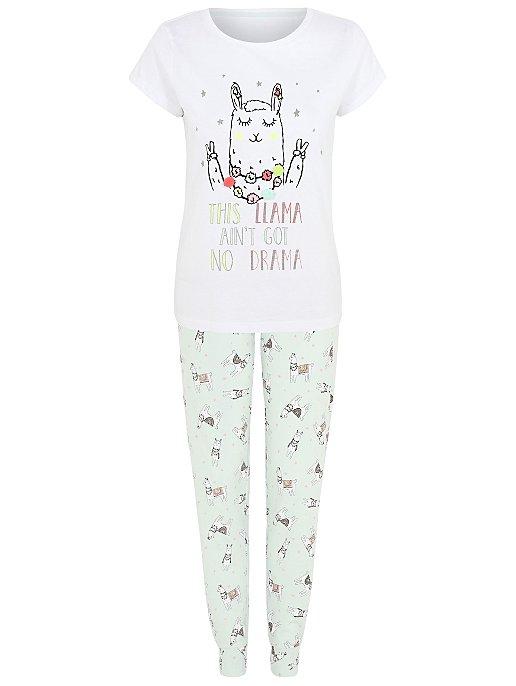 Embellished Llama Pyjamas  9b4b1e03b