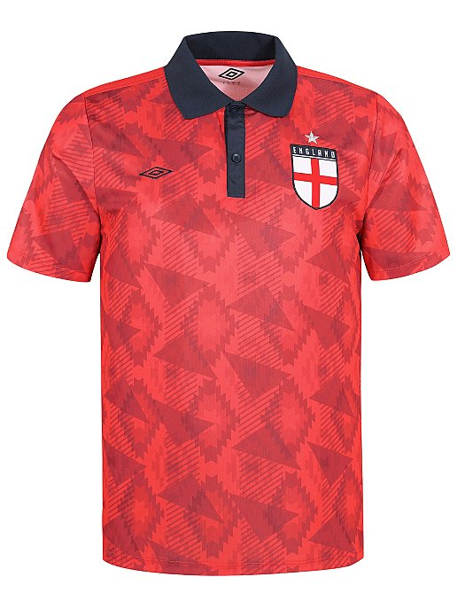 c366a5e63e Umbro Red Retro England Away Football T-Shirt | Men | George