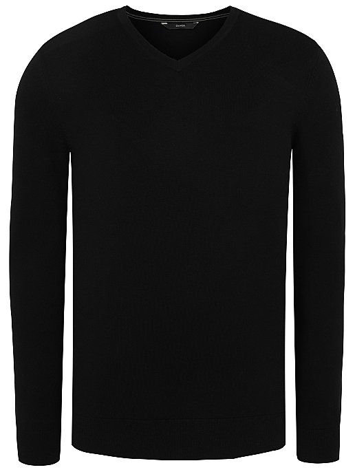 unbeatable price lowest price clear and distinctive Black Fine Knit V-Neck Jumper