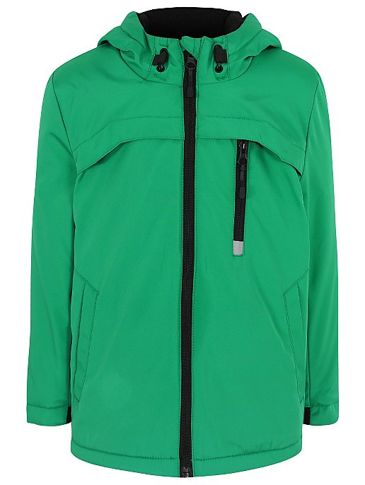 dff0ca58ae26 Green Lightweight Shower Resistant Hooded Jacket