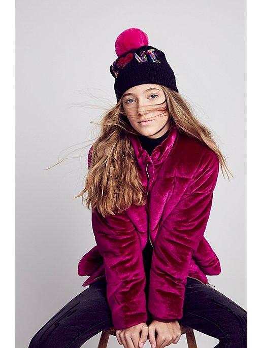 2b2374073 Pink Velvet Padded Coat