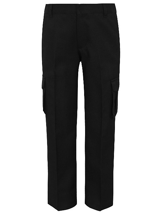 Boys Black School Cargo Trousers. Reset 26f6d72bb53