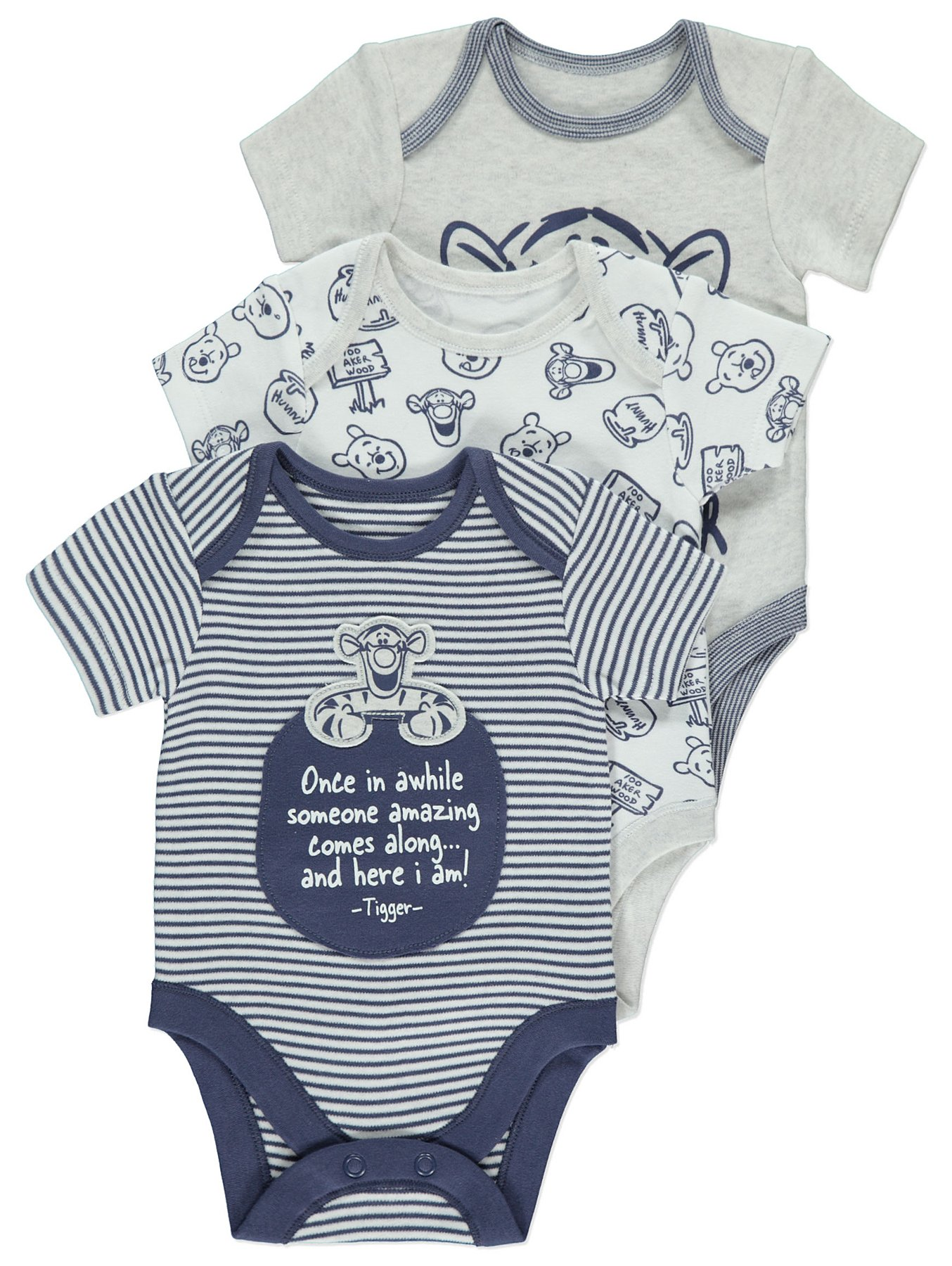 2a6bf5542 Disney Tigger Bodysuits 3 Pack | Baby | George