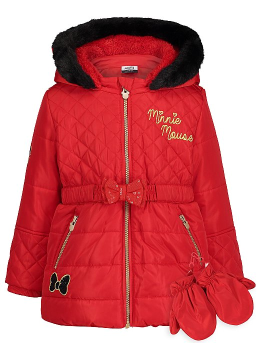 8d5cacee9 Red Minnie Mouse Coat and Mittens set