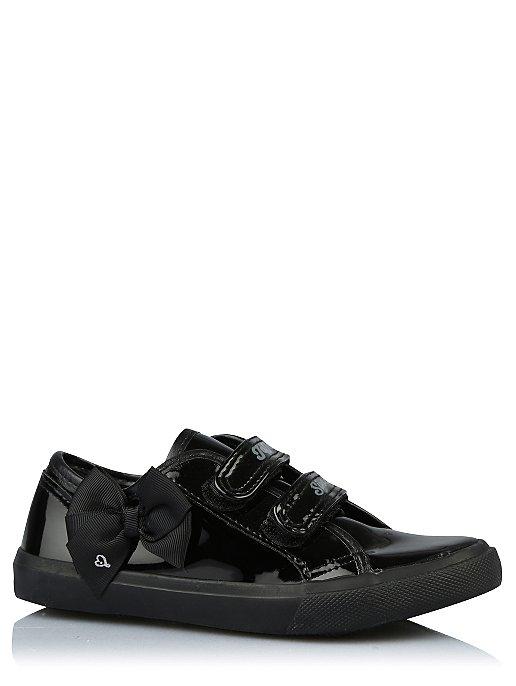 Girls JoJo Siwa Black Patent 2-Strap School Shoes  dbc1ccdd5