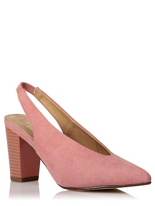 3af3a078547 Dark Pink Pointed Toe Sling Back Heels