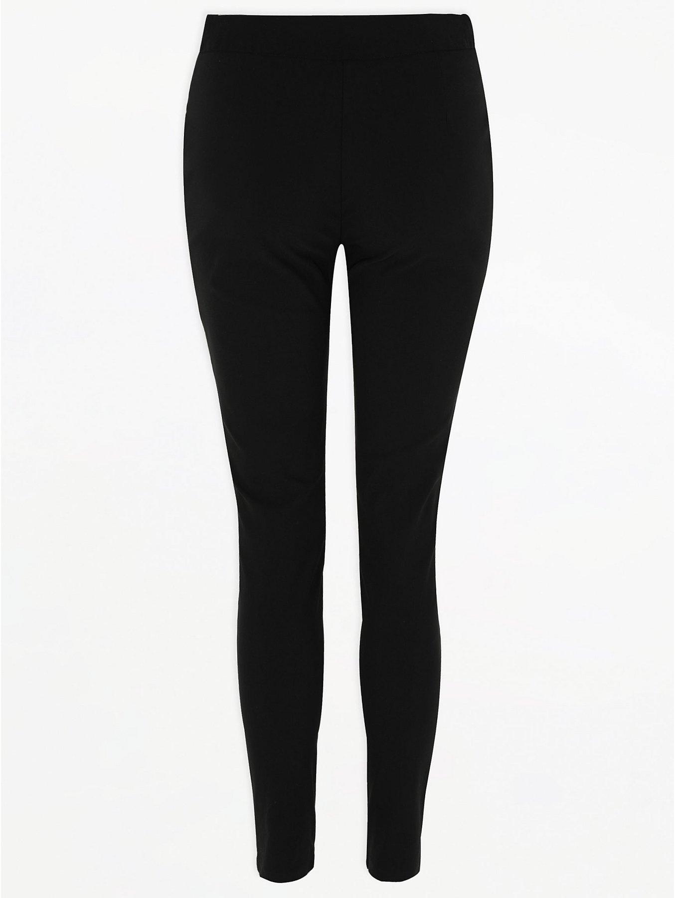 Senior Girls Black Zip Pocket Skinny Trouser
