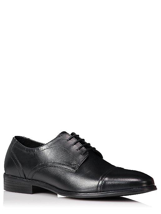 9c7bc0fd30dcc Wide Fit Black Leather Lace Up Formal Shoes | Men | George
