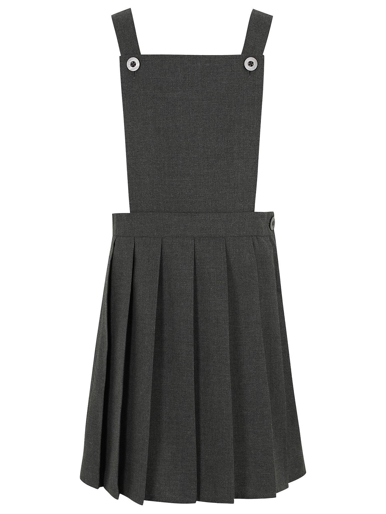 b1a4430008 Girls Grey Bib Top Pleated School Pinafore Dress   School   George