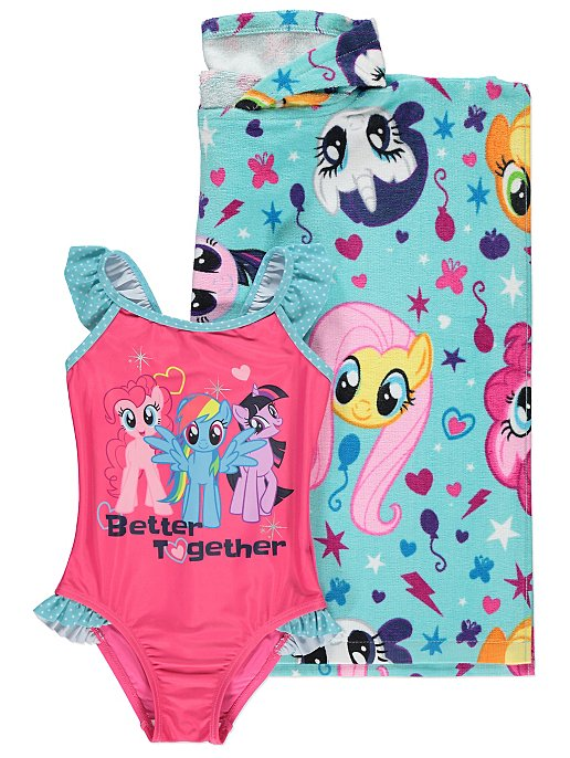 My Little Pony Swimsuit and Poncho Set