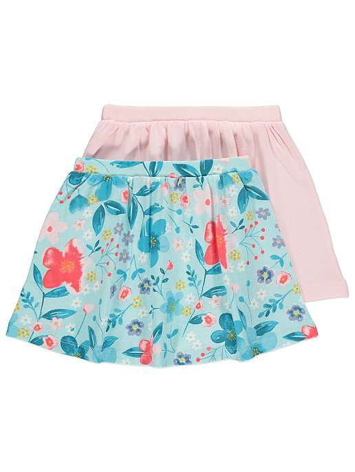 a90c10c14 Floral Print Jersey Skirts 2 Pack