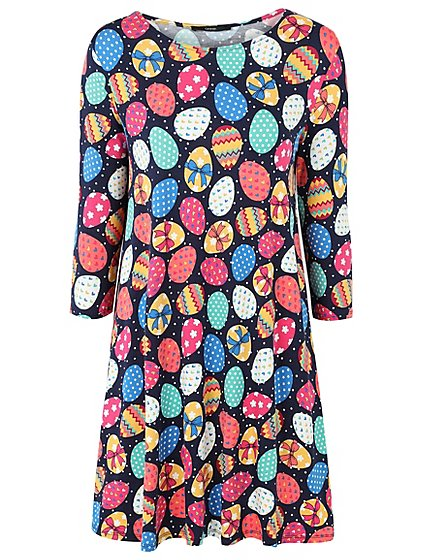 Easter egg print dress women george negle