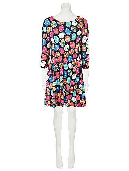 Easter egg print dress women george negle Choice Image