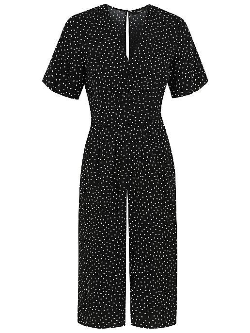 d6e9d9dacb54 Polka Dot Print Jumpsuit. Reset