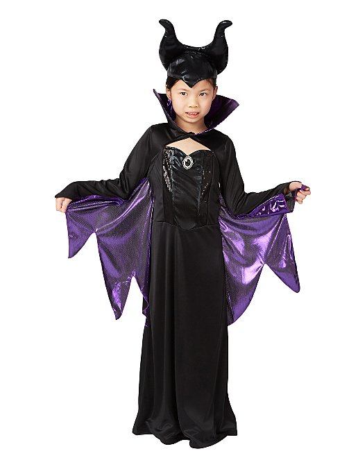 Disney Maleficent Halloween Fancy Dress Costume