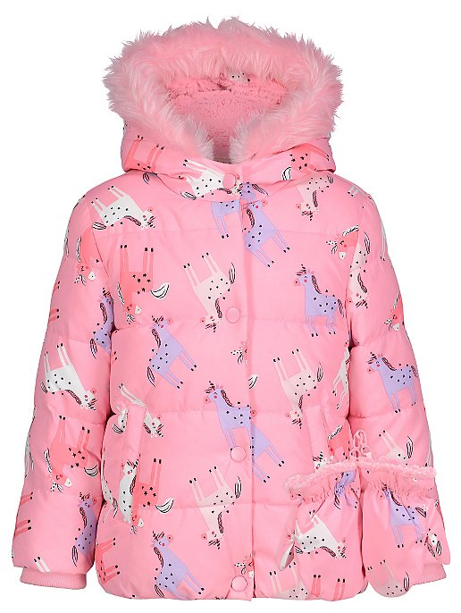 8dc8b180e213 Unicorn Shower Resistant Padded Coat with Mittens