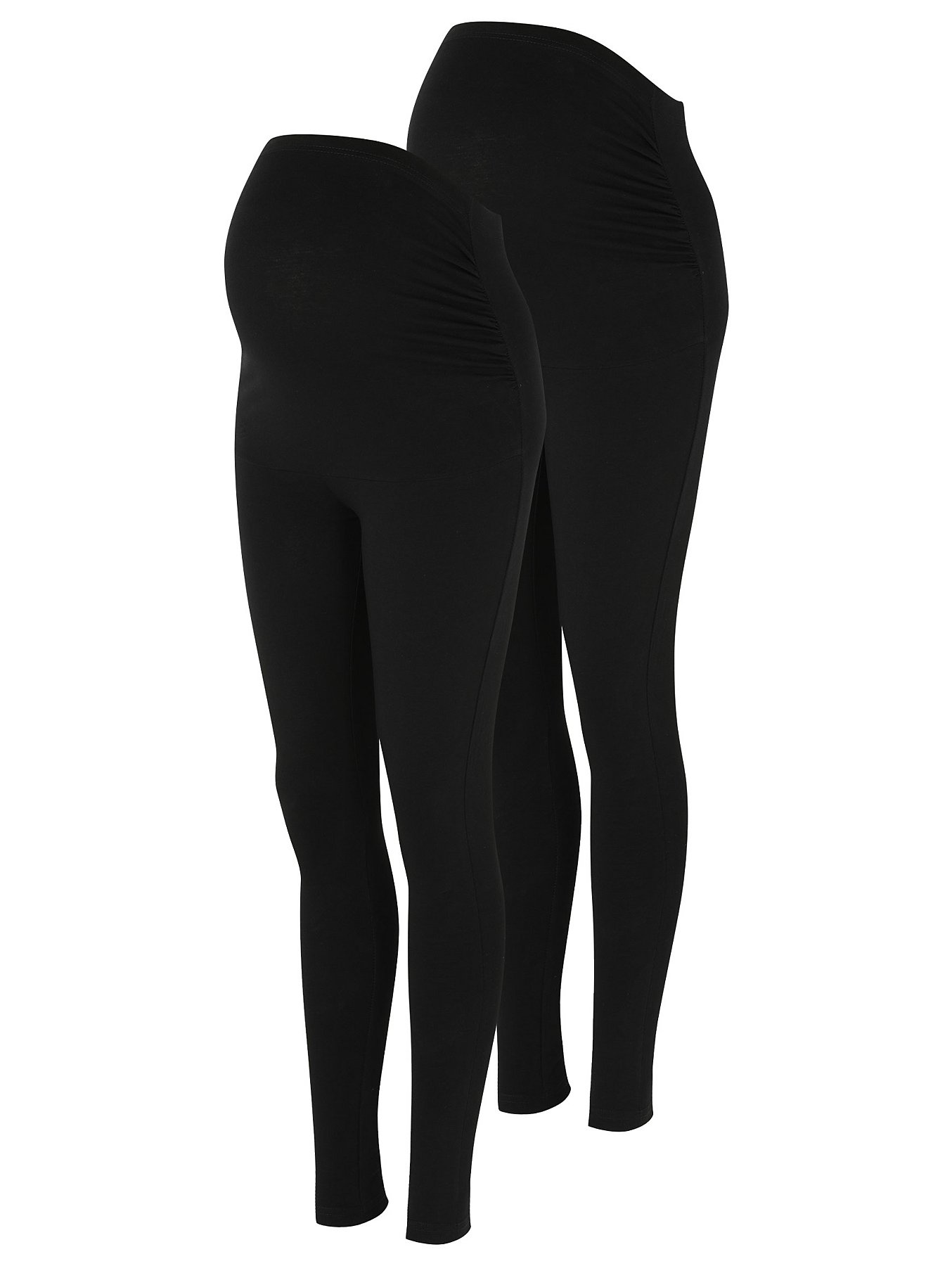 7a0fb76b3 Maternity Black Over Bump Leggings 2 Pack