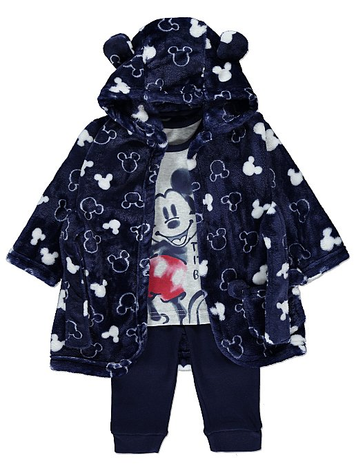 120cb09b99b4 Disney Mickey Mouse Navy Dressing Gown and Pyjamas Set
