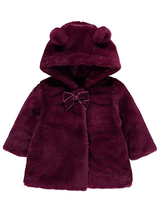 acf92494523 Plum Faux Fur Coat