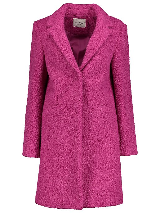 874c44015 Tickled Pink Textured Formal Longline Coat
