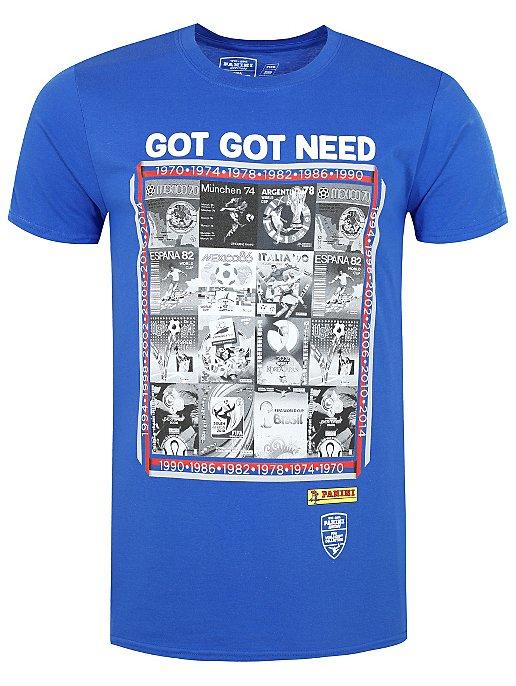 6cbf545f7 FIFA Official Panini Blue T-Shirt. Reset