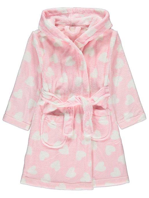 b2cd2c260b Baby Pink Heart Print Dressing Gown. Reset