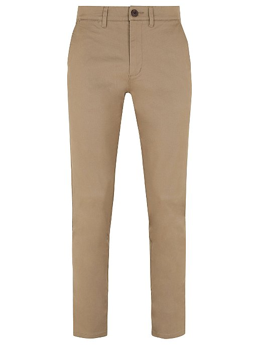 a8a84a86 Light Brown Straight Fit Stretch Chinos   Men   George