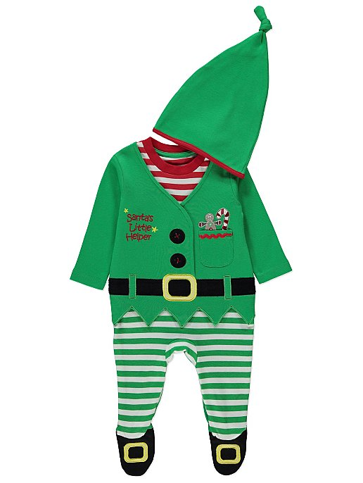 eaaead893991 Christmas Elf Green All in One   Hat