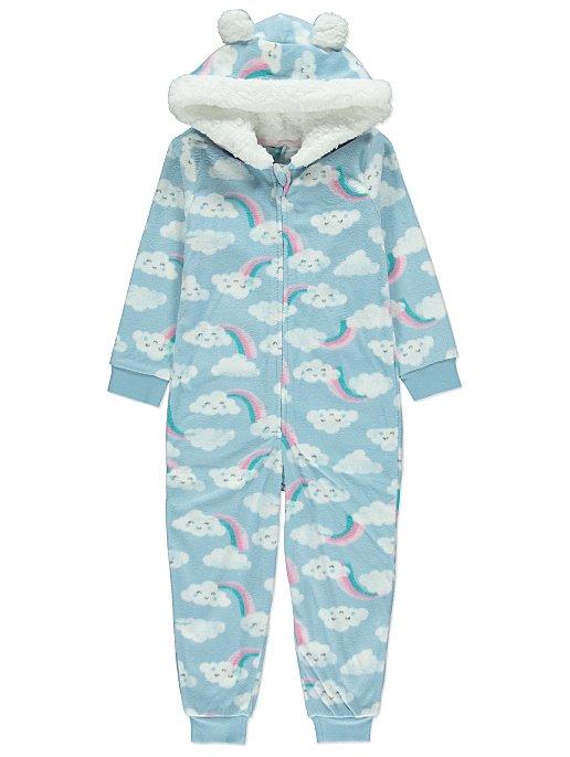 1a10cf6865 Cloud Print Hooded Fleece Onesie. Reset