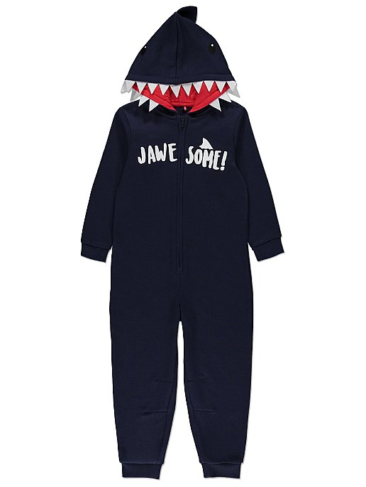 2eed30d6a Navy Shark Slogan Onesie | Kids | George