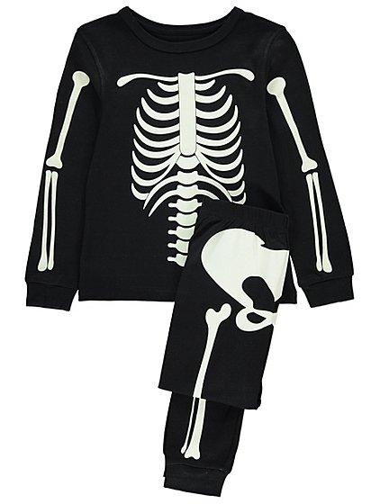 Halloween Glow In The Dark Skeleton Pyjamas | Kids | George