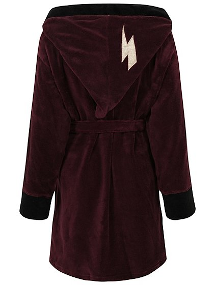 Harry Potter Burgundy Hooded Dressing Gown   Women   George