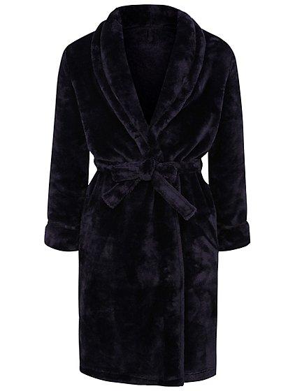 Navy Fleece Dressing Gown | Women | George