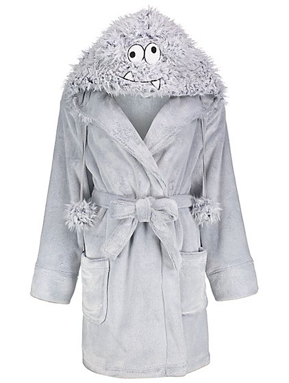 Grey Faux Fur Monster Face Short Dressing Gown | Women | George
