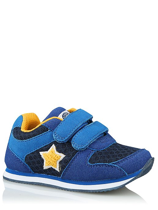 c9a6726de13 First Walkers Blue Star 2 Strap Trainers