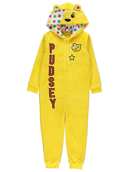 ff8c26b44bff Children in Need Pudsey Bear Onesie with Cape