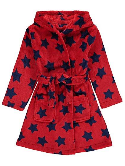 Star Print Fleece Dressing Gown | Kids | George