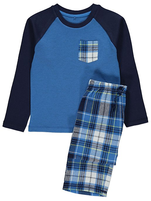 4fb2eecb7290 Blue Checked Pyjamas Gift Set