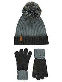 cca80d86529 Fleck Knitted Hat and Gloves Set